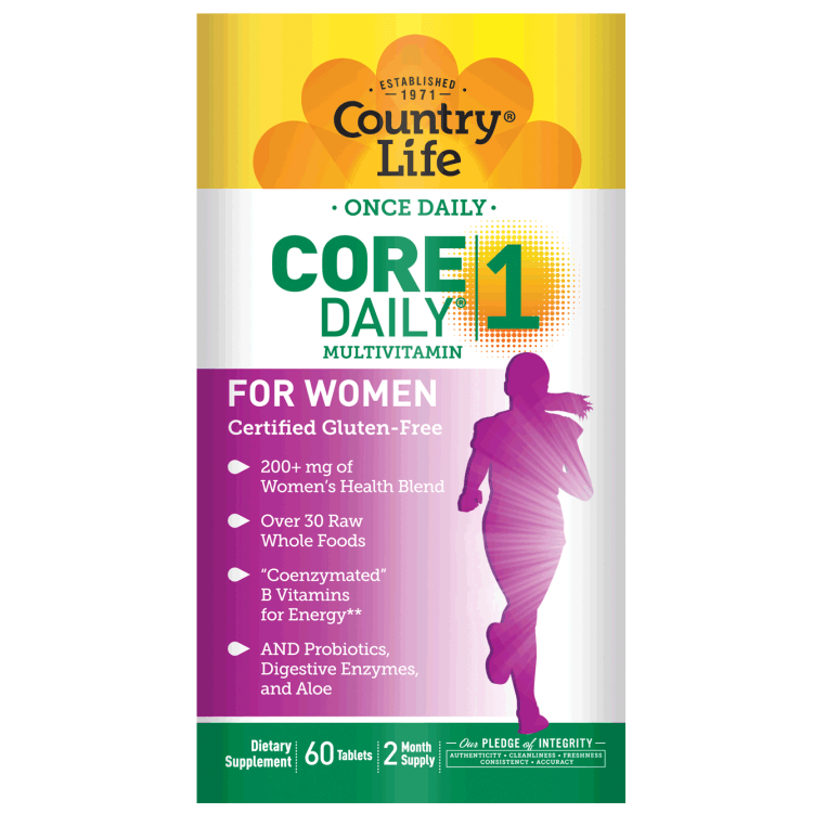 Country Life - Core Daily-1 Multivitamin, Women - 60 Tablets - AM VITAMINS