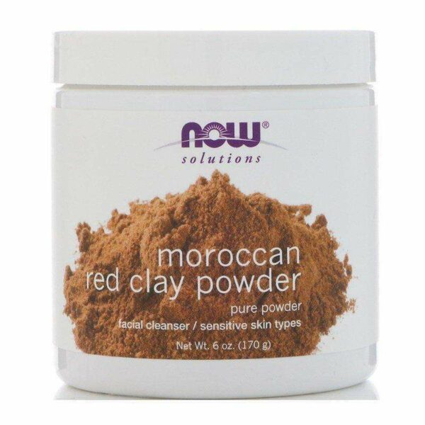 Now Foods - Solutions, Moroccan Red Clay Powder - 6 oz (170 g) - AM VITAMINS