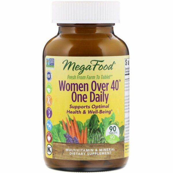 Megafood - Women Over 40™ One Daily - 90 Tablets - AM VITAMINS