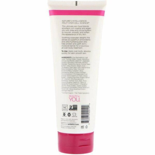 Andalou Naturals - 1000 Roses Soothing Body Lotion - 8 Ounce - AM VITAMINS