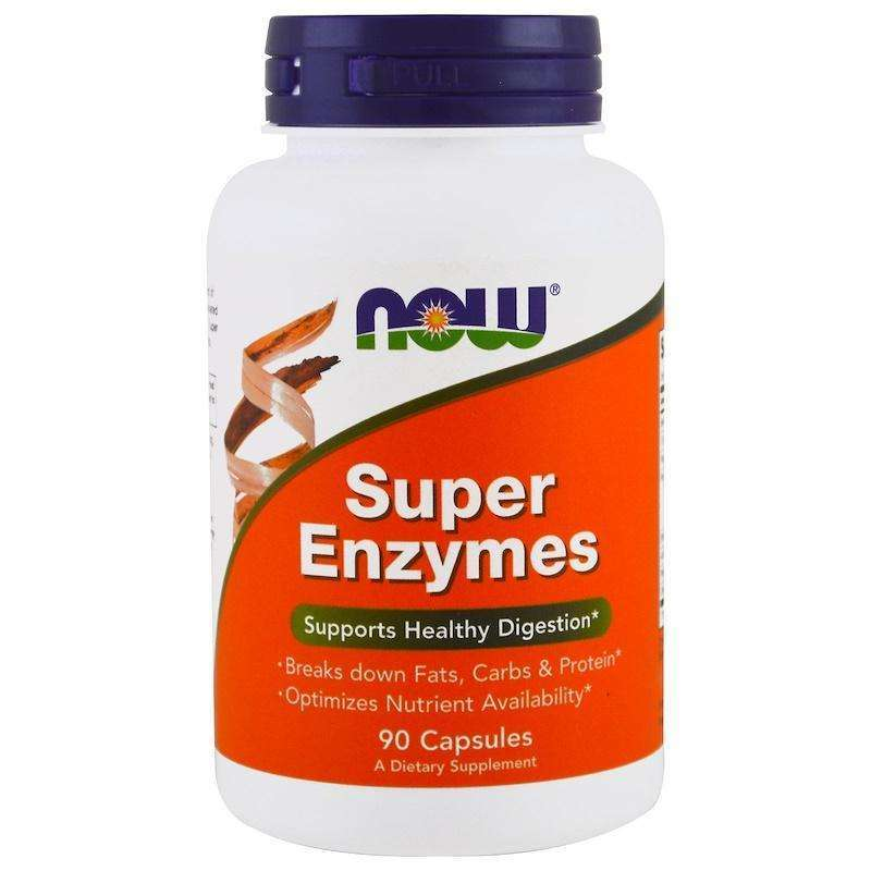 Now Foods - SUPER ENZYMES - 90 Capsules - AM VITAMINS