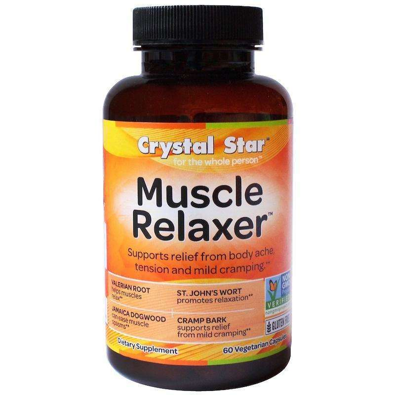 Crystal Star - Muscle Relaxer - 60 Veggie Caps - AM VITAMINS