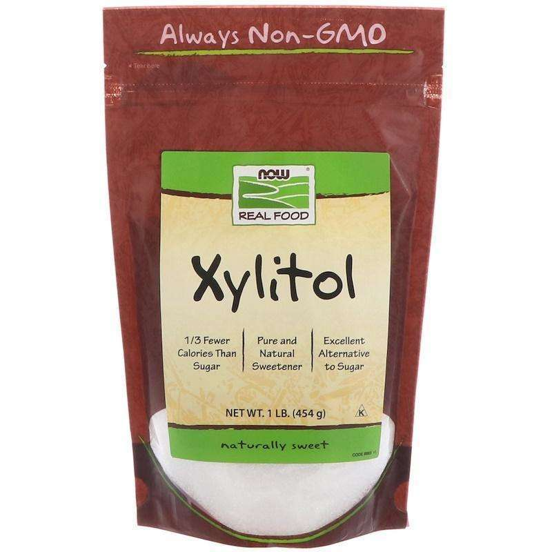 Now Foods - Real Food, Xylitol - 1 lb (454 g) - AM VITAMINS