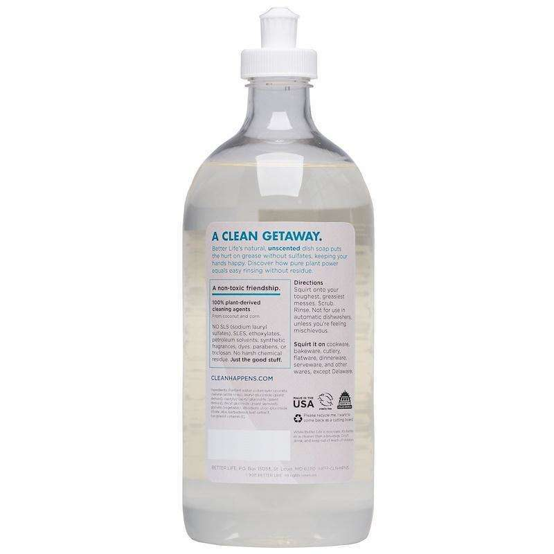 Better Life - Dish Soap Dish It Out - Unscented - 22 Oz - AM VITAMINS