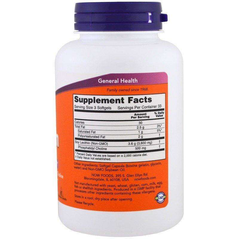Now Foods - Lecithin, 1200 mg - 100 Softgels - AM VITAMINS