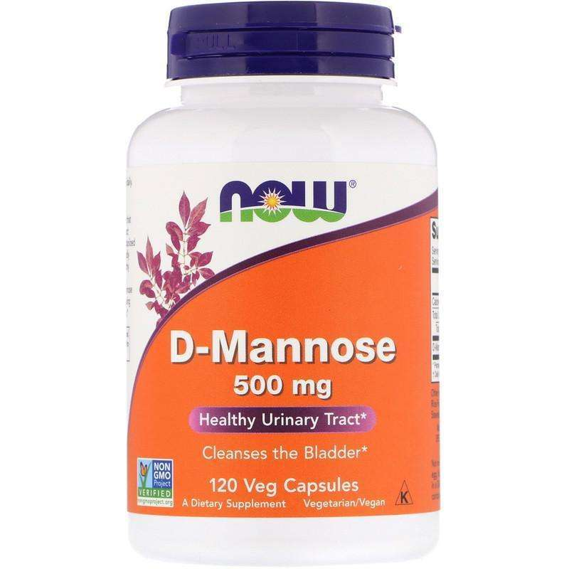 Now Foods - D-Mannose, 500 mg - 120 Veg Capsules - AM VITAMINS