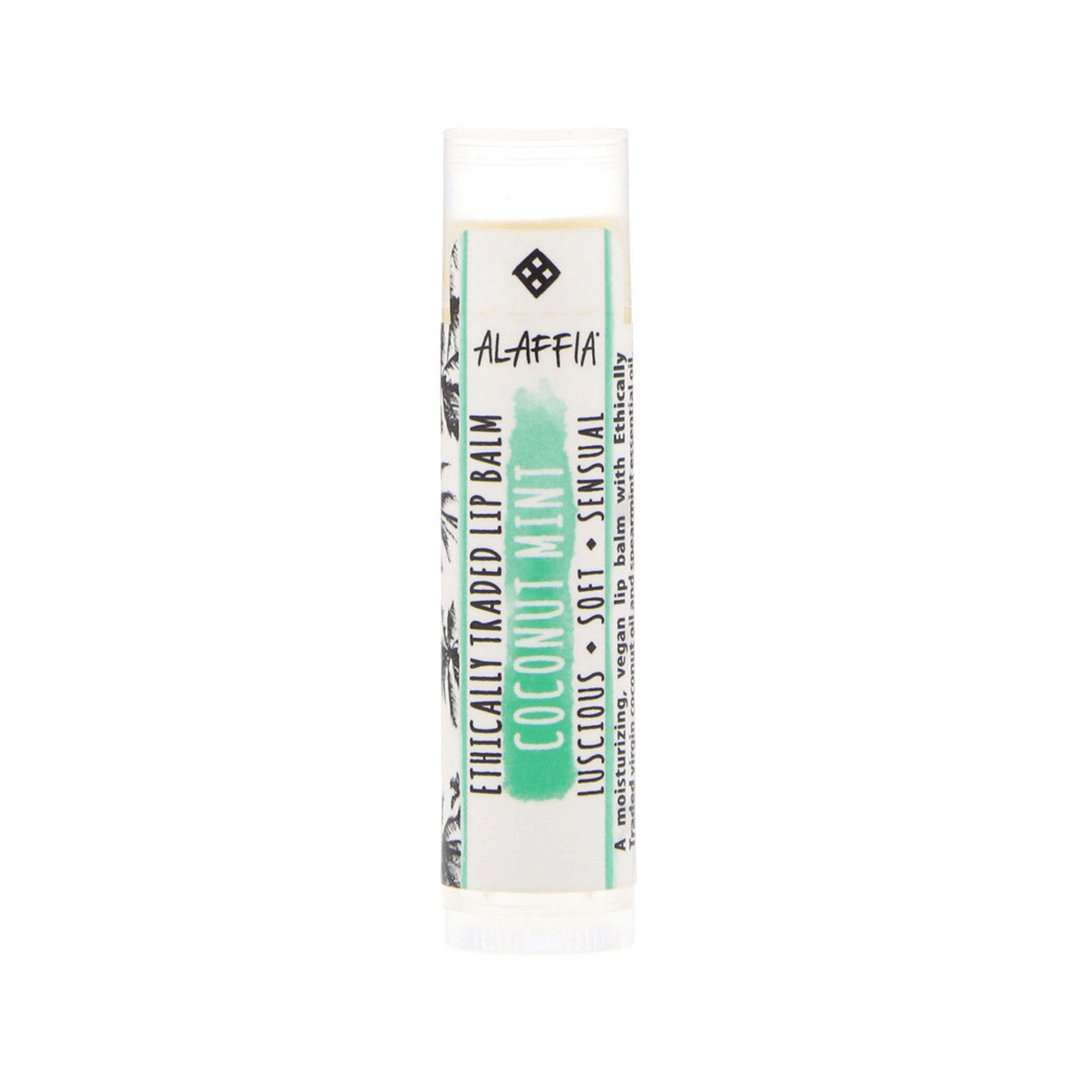 Alaffia - Everyday Coconut, Ethically Traded Lip Balm - Coconut Mint - 0.15 oz (4.25 g) - AM VITAMINS
