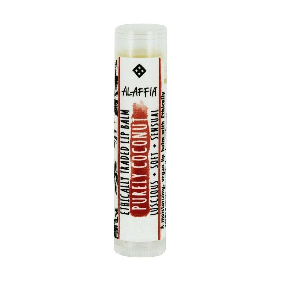Alaffia - Everyday Coconut, Ethically Traded Lip Balm - Purely Coconut - 0.15 oz (4.25 g) - AM VITAMINS