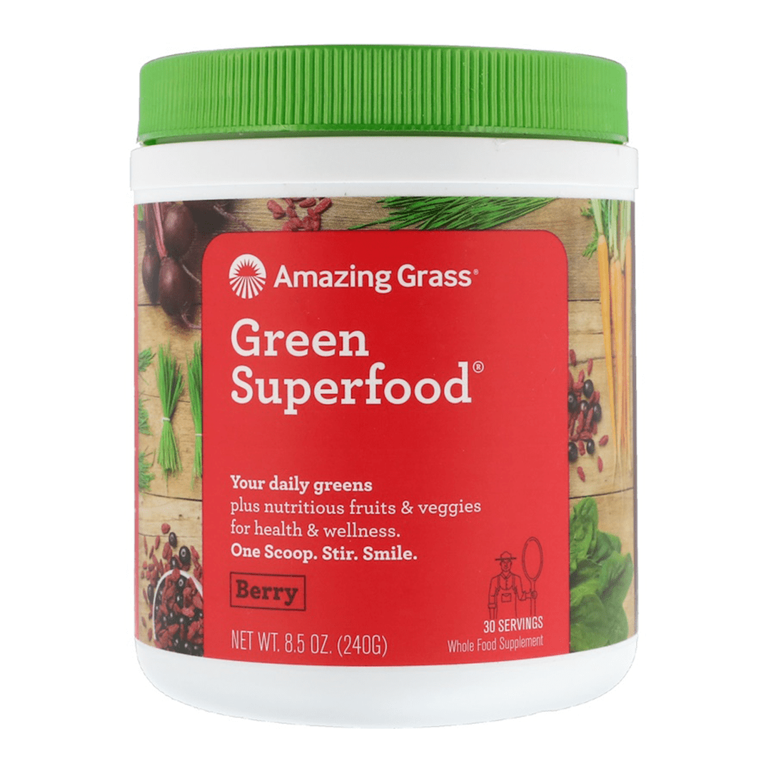 Amazing Grass- Green Superfood Berry - 30 Servings - 8.5 oz (240 g) - AM VITAMINS