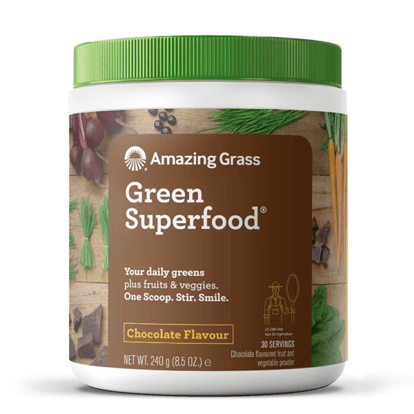 Amazing Grass - Green Superfood Chocolate - 30 Servings - 8.5 oz (240 g) - AM VITAMINS