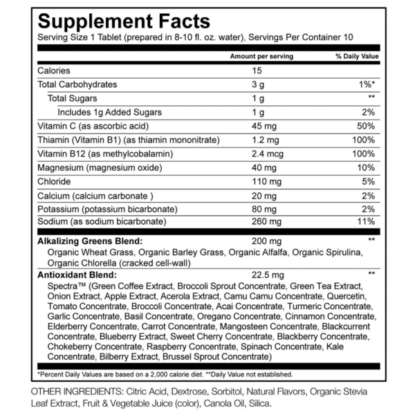 Green Superfood Hydrate - Watermelon Lime Flavor - 10 Tablets - Amazing Grass - AM VITAMINS