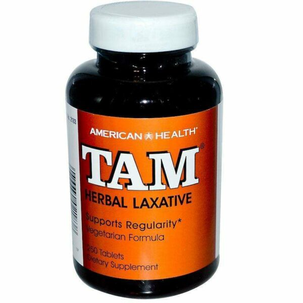 American Health - TAM Herbal Laxative - 250 Tablets (125 Servings) - AM VITAMINS