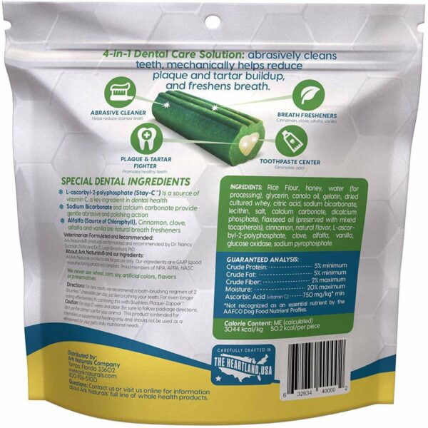 Ark Naturals - Brushless Toothpaste Dental Chews - Small Dogs - 12oz bag (340g) - AM VITAMINS