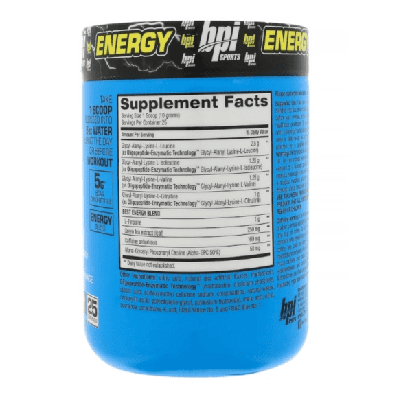 BPI Sports - Best BCAA with Energy - Sour Candy - 25 servings 8.8 oz (250 g) - AM VITAMINS