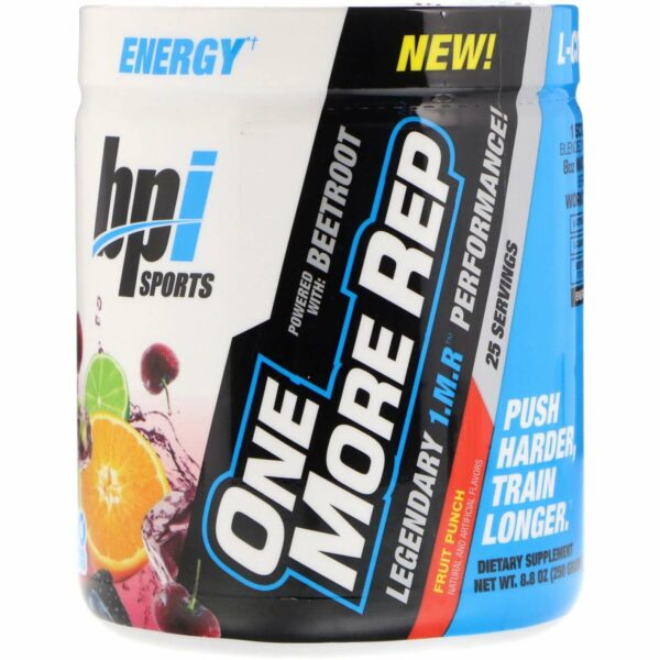 One More Rep Pre-Workout Intense Strength - Fruit Punch - 8.8 oz - BPI Sports - AM VITAMINS