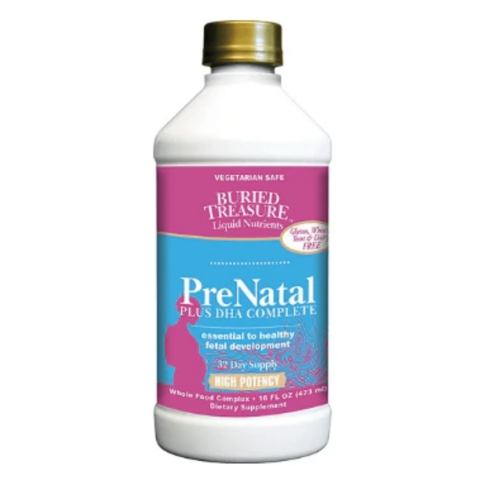 Buried Treasure - PreNatal Plus DHA Complete - 16 fl oz (473 ml) - AM VITAMINS