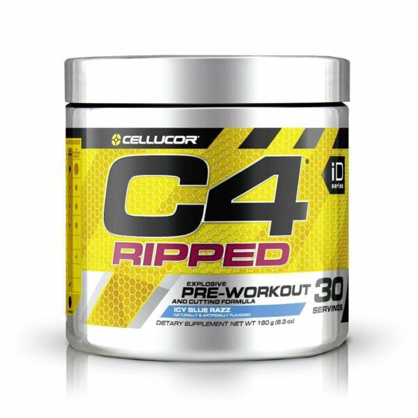 Cellucor - C4 Ripped, Pre-Workout, Icy Blue Razz - 6.3 oz (180 g) - AM VITAMINS