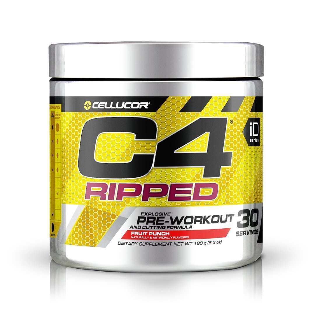 Cellucor - C4 Ripped, Pre-Workout, Fruit Punch - 6.34 oz (180 g) - AM VITAMINS