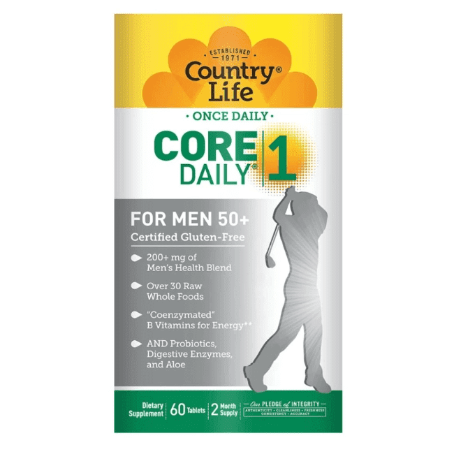 Country Life - Core Daily-1, Multivitamins, Men 50+ - 60 Tablets - AM VITAMINS