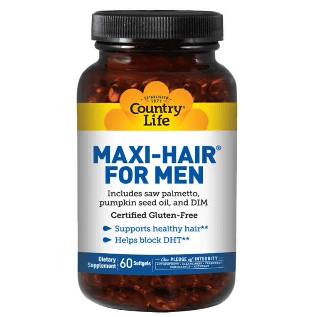 Country Life - Maxi Hair for Men - 60 Softgels - AM VITAMINS