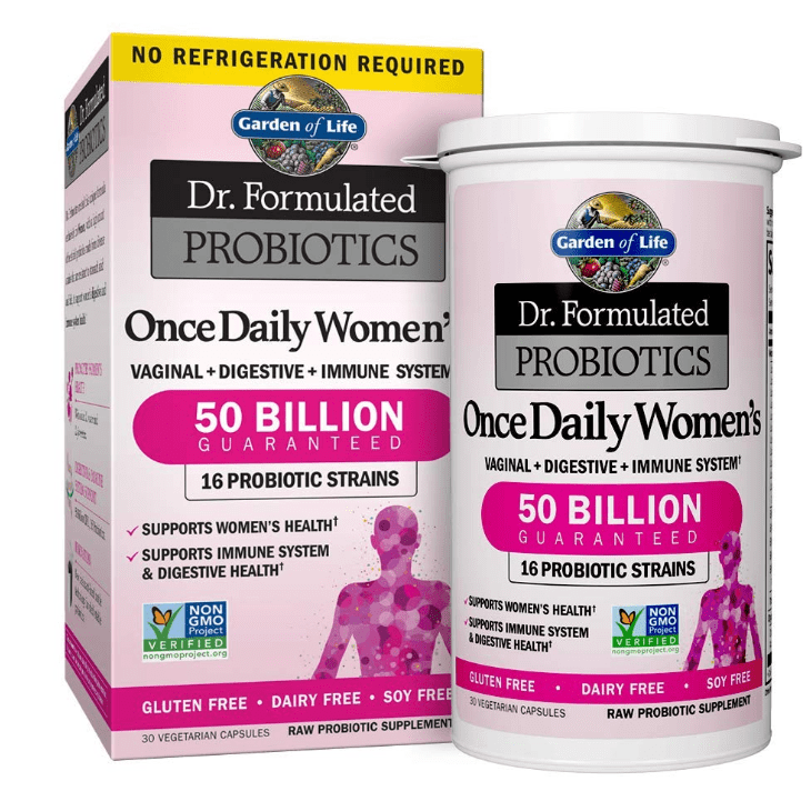 Garden of Life - Dr. Formulated Probiotics, Once Daily Women's - 30 Vegetarian Capsules - AM VITAMINS