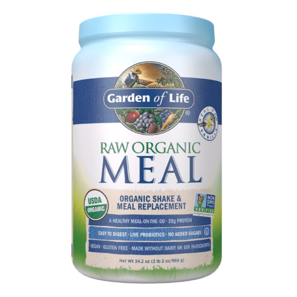 Garden of Life - RAW Organic Meal, Shake & Meal Replacement, Vanilla - 2.13 lbs (969 g) - AM VITAMINS