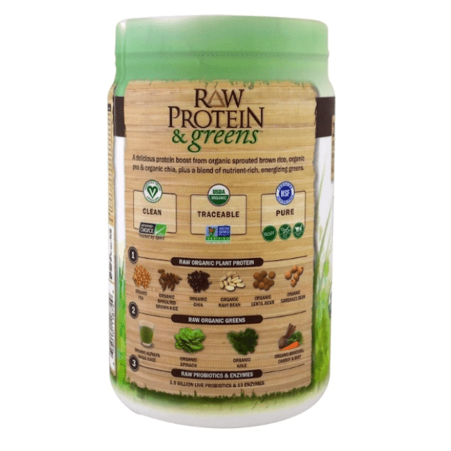 Garden of Life - Raw Protein & Greens, Organic Plant Formula, Real Raw Chocolate Cacao - 1.4 lbs (611 g) - AM VITAMINS