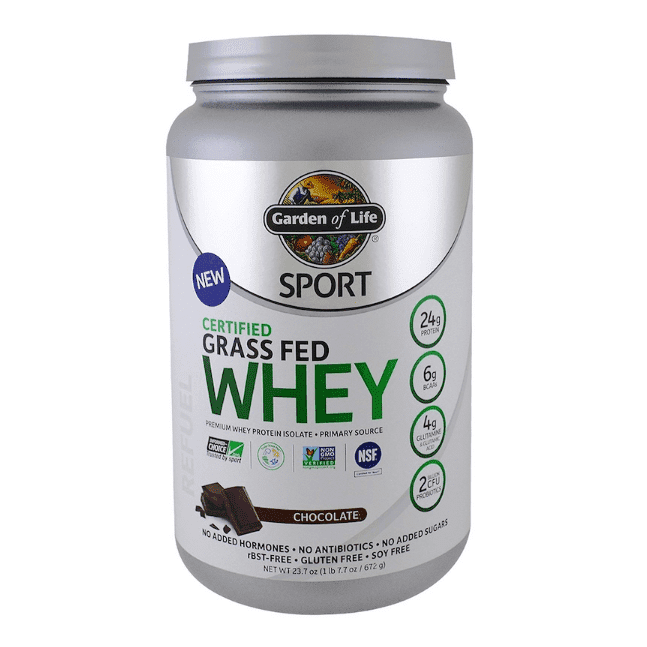 Garden of Life - Sport, Certified Grass Fed Whey, Chocolate - 1.48 lbs (672 g) - AM VITAMINS