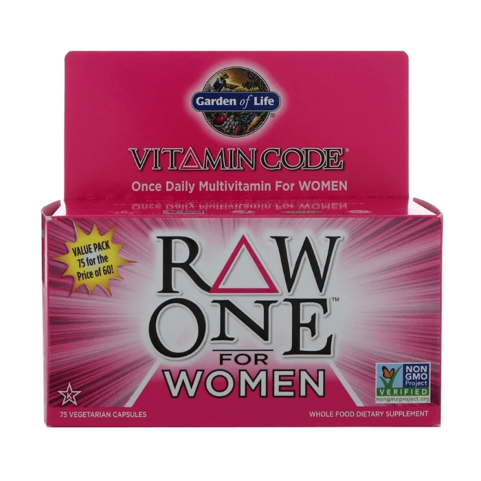 Garden of Life - Vitamin Code, Raw One, Once Daily Multi-Vitamin for Women - 75 Vegetarian Capsules - AM VITAMINS