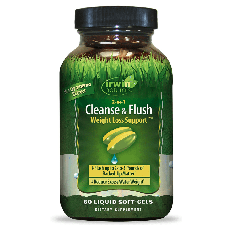 Irwin Naturals - 2-IN-1 Cleanse & Flush Weight Loss Support - 60 Liquid Softgel - AM VITAMINS