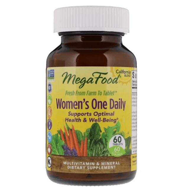 MegaFood - Women's One Daily - 60 Tablets - AM VITAMINS