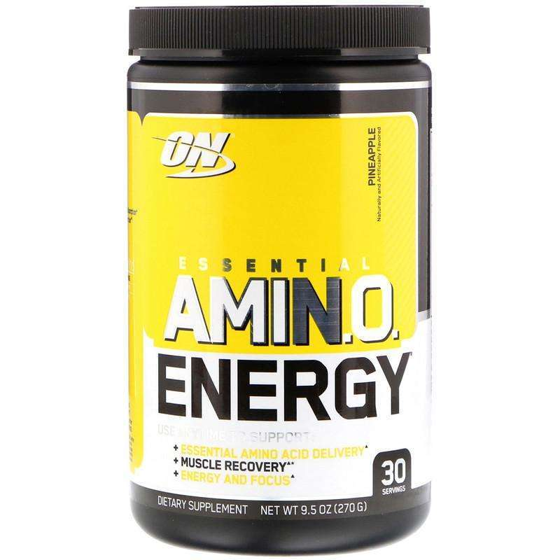 Optimum Nutrition - Essential Amin.O. Energy, Pineapple, Muscle Recovery - 9.5 oz (270 g) - AM VITAMINS