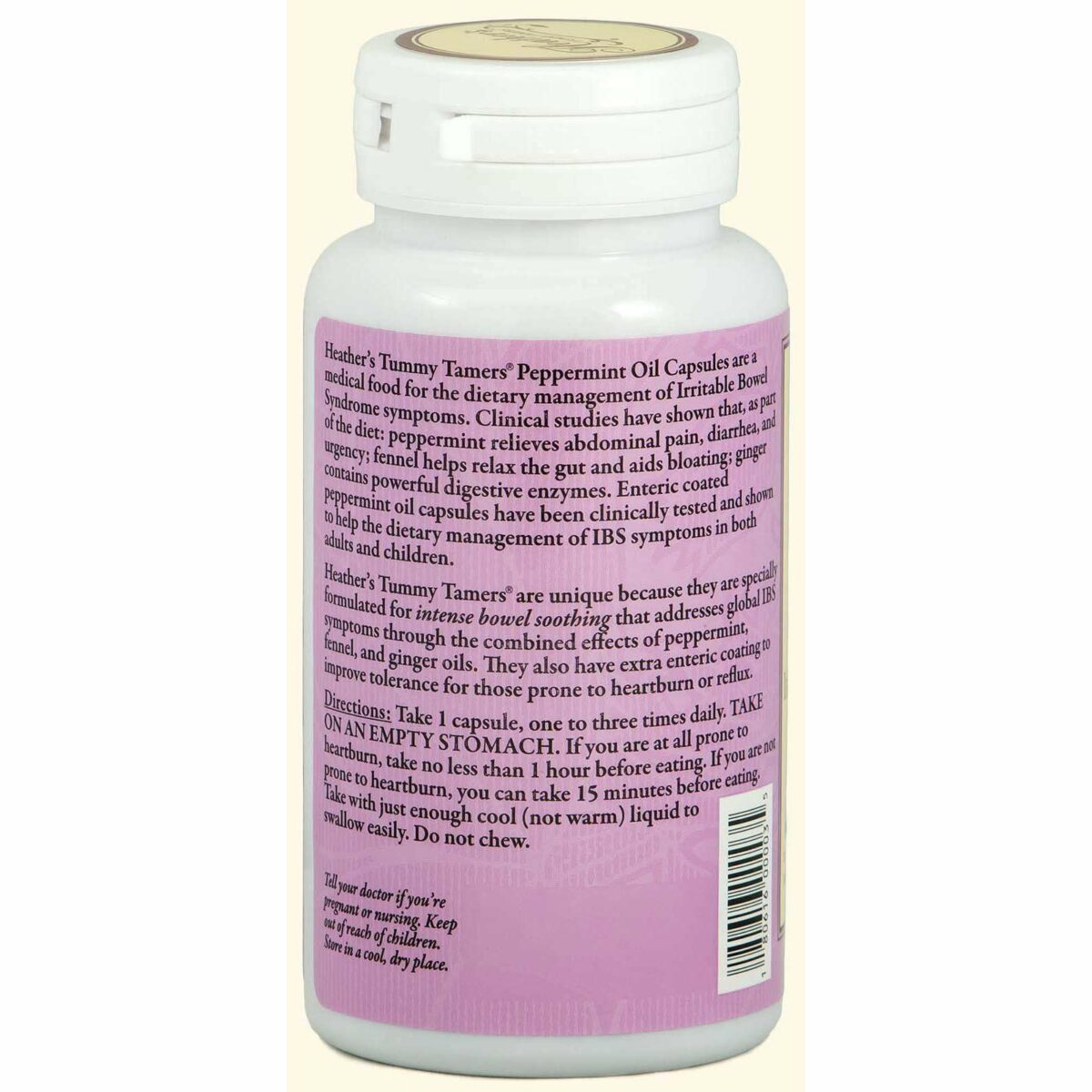 Heather's Tummy Care - Peppermint Oil, Irritable Bowel Syndrome - 90 Enteric Coated Softgels - AM VITAMINS