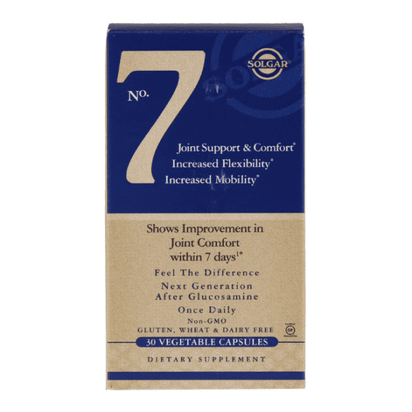 Solgar - No. 7, Joint Support & Comfort - 30 Vegetable Capsules - AM VITAMINS
