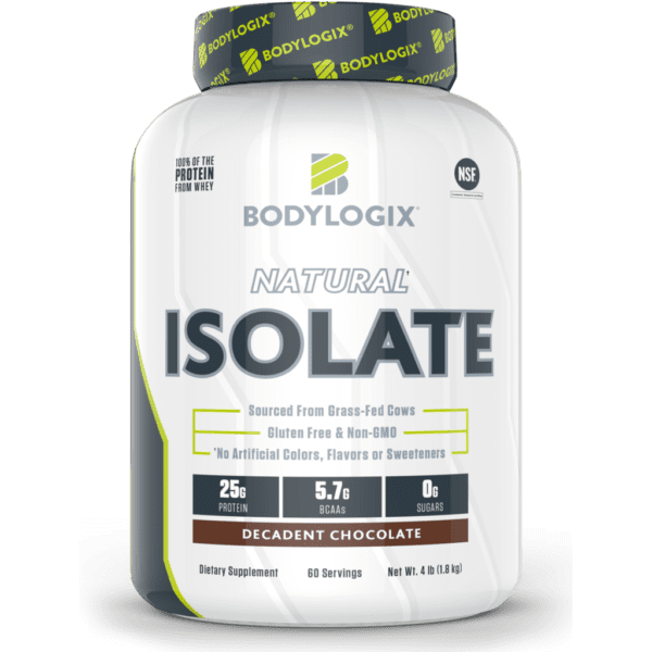 Bodylogix - Natural Whey Protein Isolate - Chocolate - 4lb - AM VITAMINS