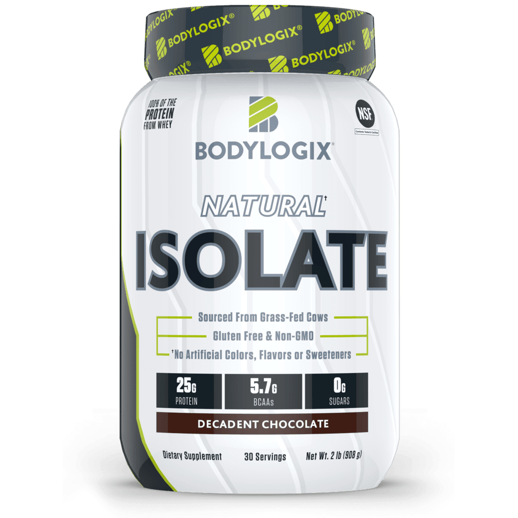 Bodylogix - Natural Whey Protein Isolate - Chocolate - 2lb - AM VITAMINS