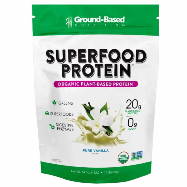 Ground Based - Superfood Protein  – Pure Vanilla (Pouch) - AM VITAMINS