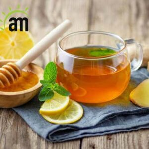 A combination of green tea, ginseng and honey
